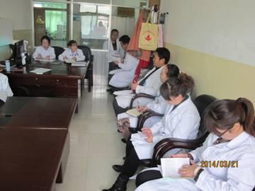 州中心血站组织开展党的群众路线教育实践活动全体职工学习情况